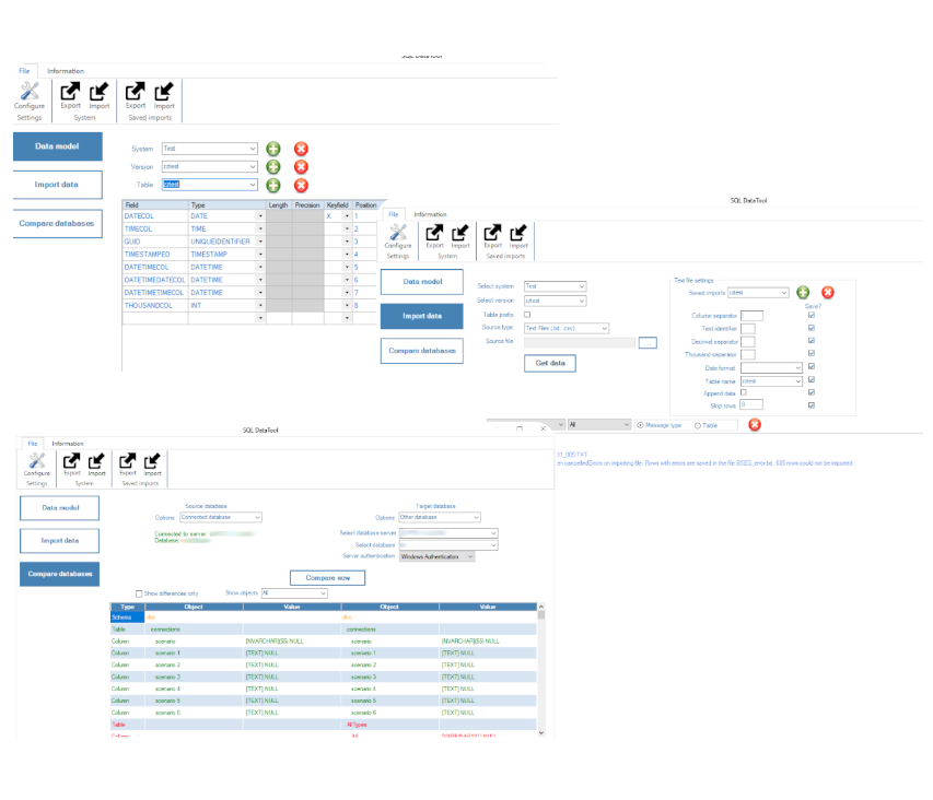 SQL DataTool process